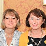 Pictured at Searsons Expert Series, Lulie Halstead (Wine Intelligence) and Maureen O'Hara (Premier Wine Training).