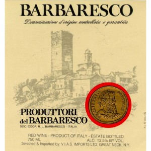 Barbaresco label